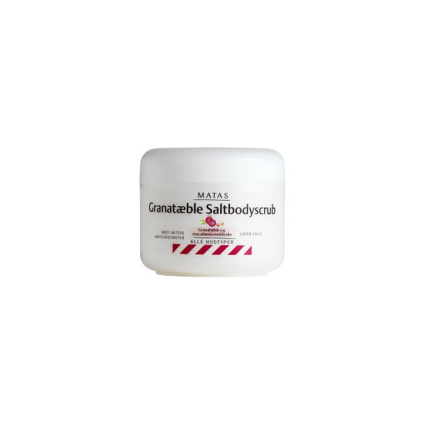 Saltbodyscrub med granatæble, 250 gram