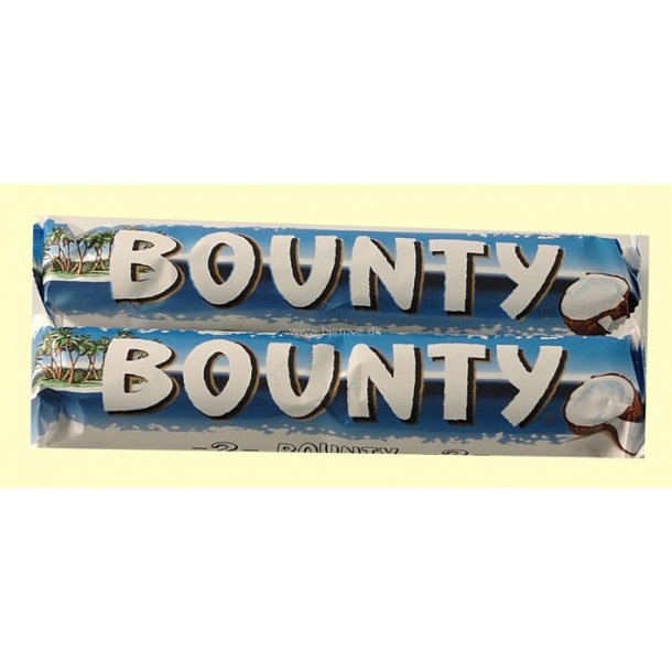 Bounty Bar, 2 x 2 stk. i alt 114 gram