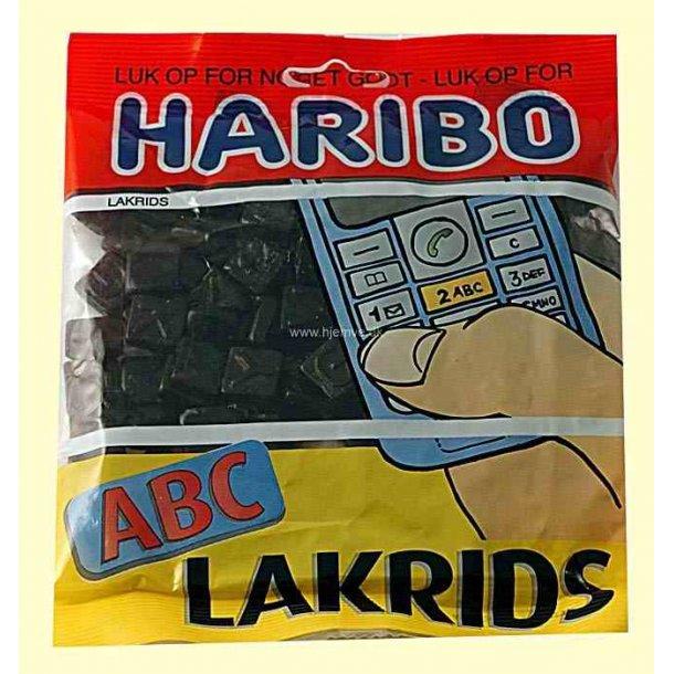 Haribo ABC Lakrids, 135 gram