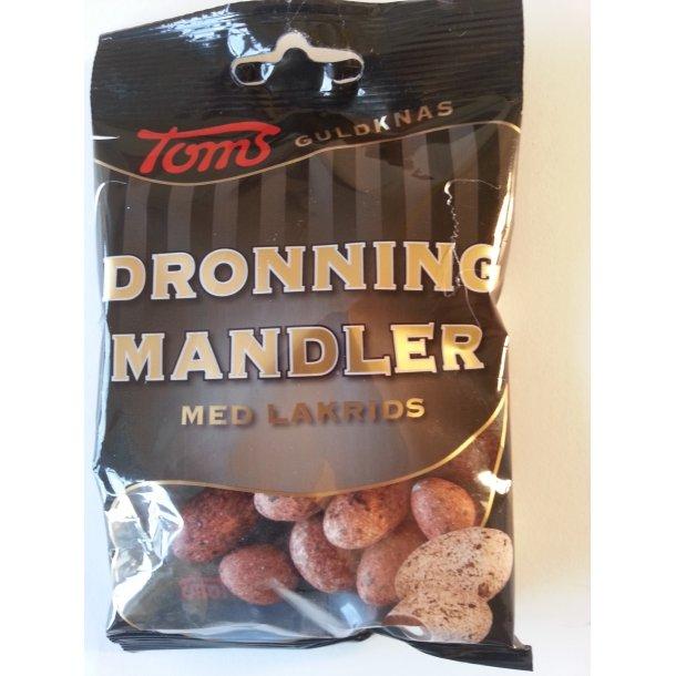 Toms Dronning Mandler Med Lakrids, 75 gram