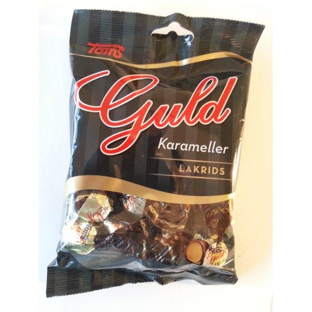 Toms Guldkarameller Med Lakrids, 100 gram