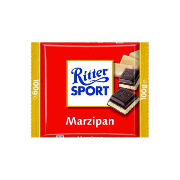 Ritter Sport med marcipan, 100 gram