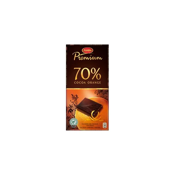 Marabou Chokolade Premium Cocoa Orange, 100 gram