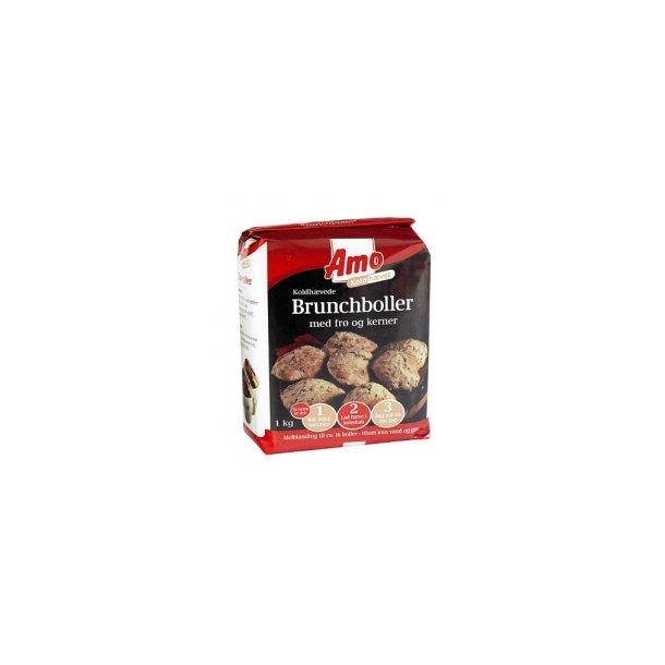 Amo koldhævede brunchboller med frø og kerner