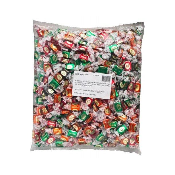 Carletti Big Ben Blandede Karameller, 1500 gram