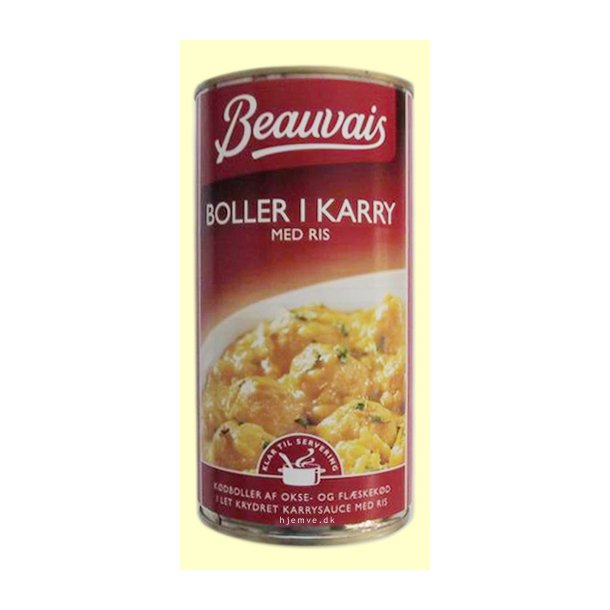 Boller i karry med ris, 570 gram