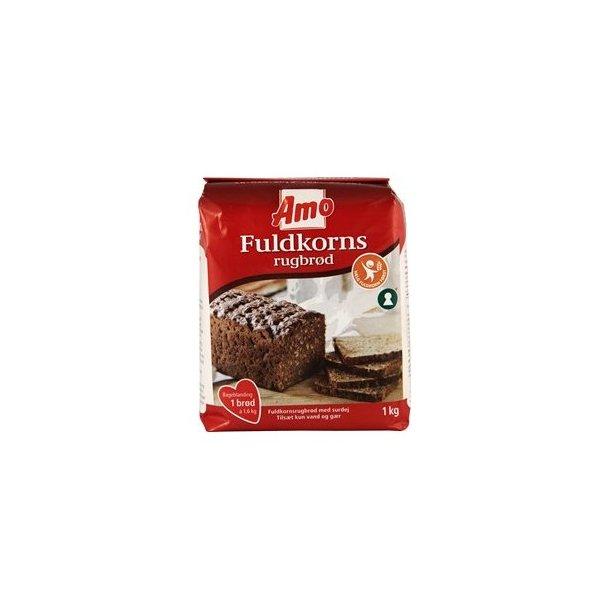 Amo Rugbrødsblanding, fuldkorn(Amo Ryebread mixture, fullgrain)