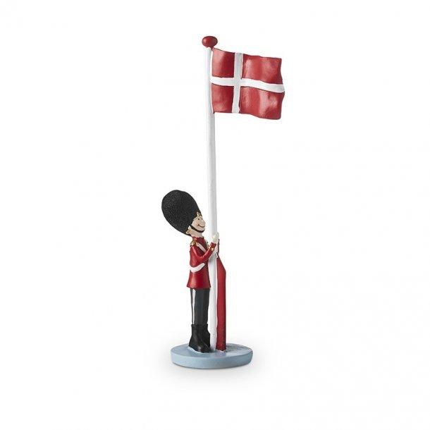 Garder med flag fra Det Gamle Apotek, 31cm