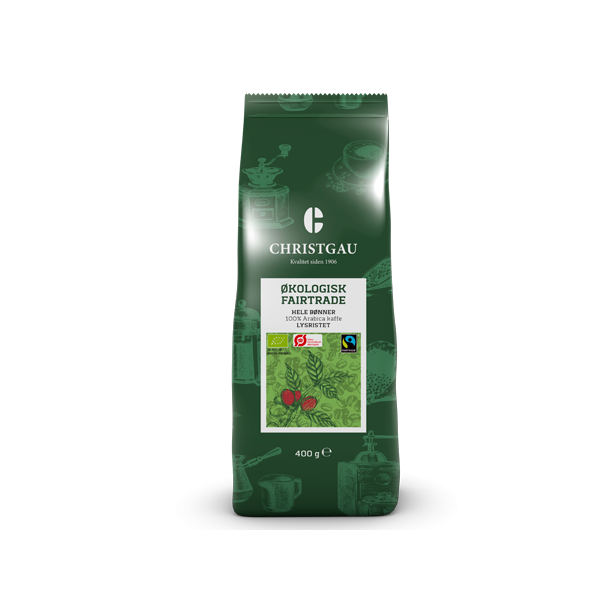 Christgau Økologisk Fairtrade kaffe, hele bønner 400g