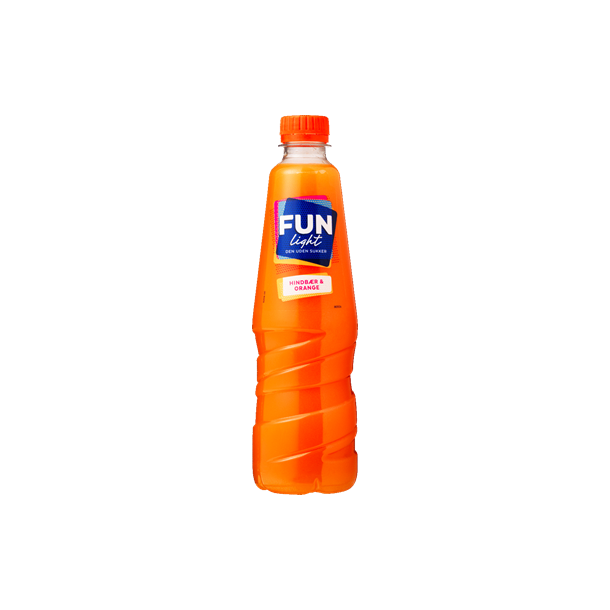 Fun Light Hindbær-Orange, 0,5l.