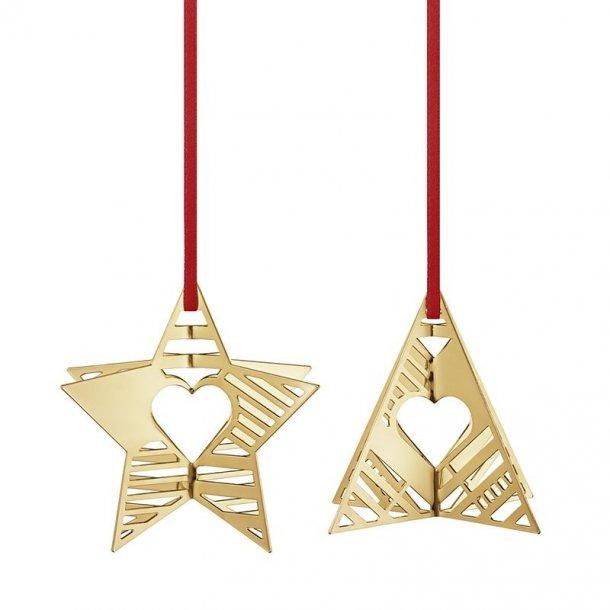 Georg Jensen Ornamenter, Stjerne og juletræ, 2 pak, 2019