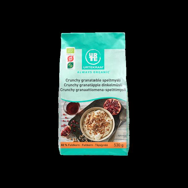 Urtekram Økologisk Crunchy granatæble spelt müsli, 530g