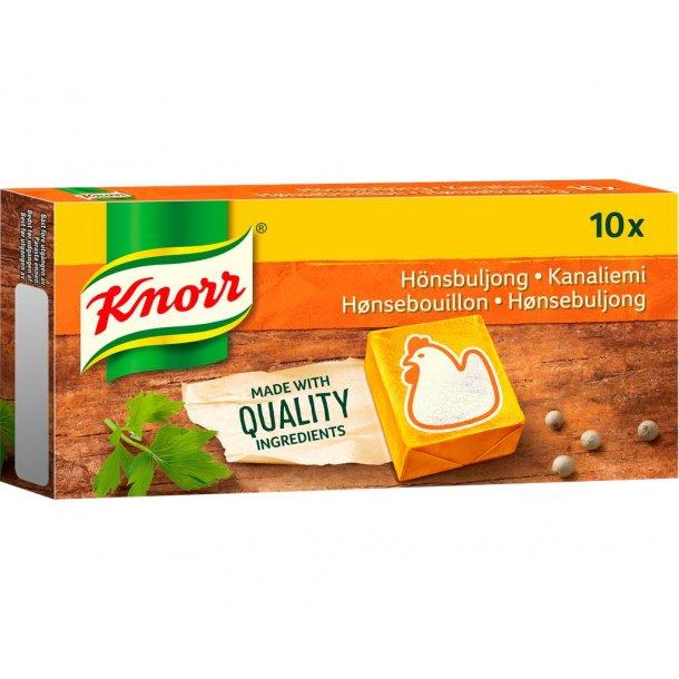 Knorr Hønseboullion, 100g. Bedst før: 05/20. Obs: 2 pakker tilbage.