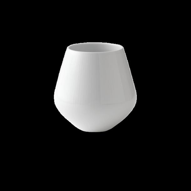 Royal Copenhagen Hvid Riflet Vase lille, 12cm