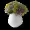 Royal Copenhagen Hvid Riflet Vase Medium, 15cm