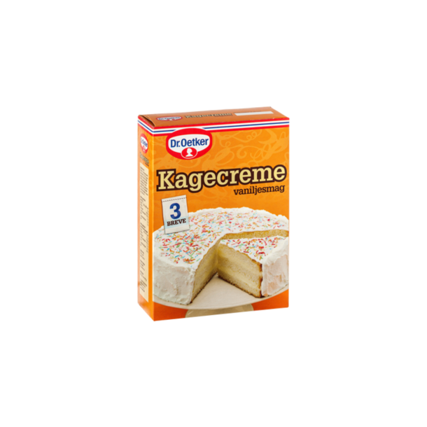 Kagecreme med vanillesmag fra Dr. Oetker, 3 poser