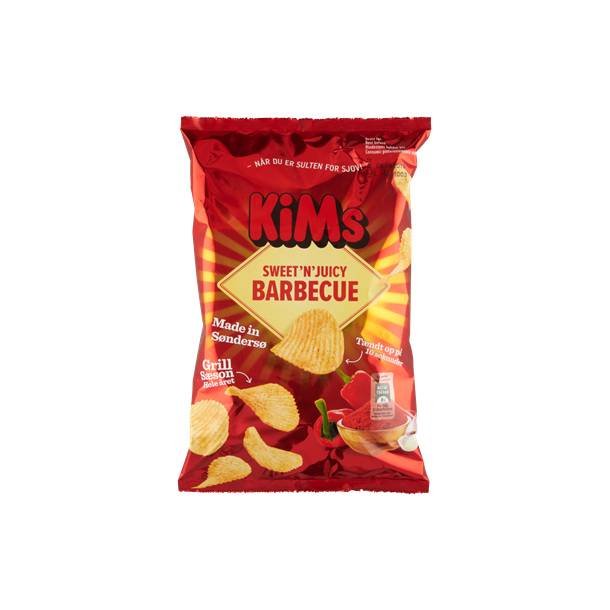 Kims Chips med barbecue, 175g