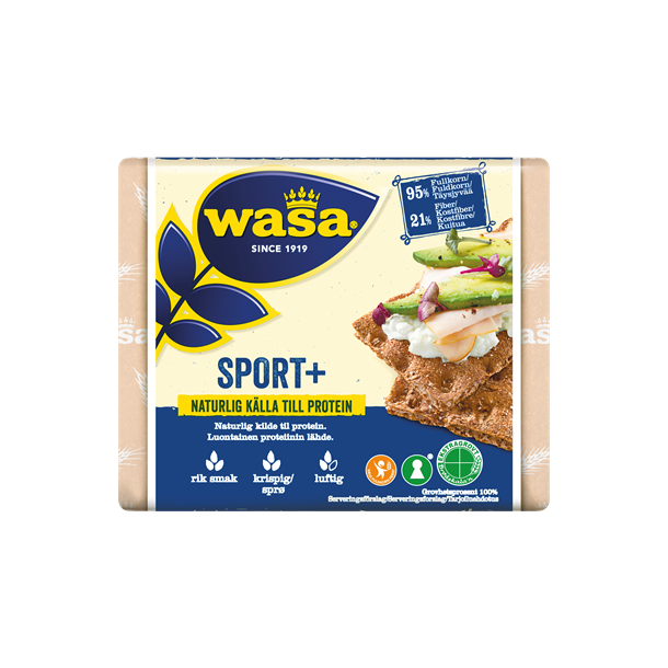 Wasa Knækbrød Sport+, 225g