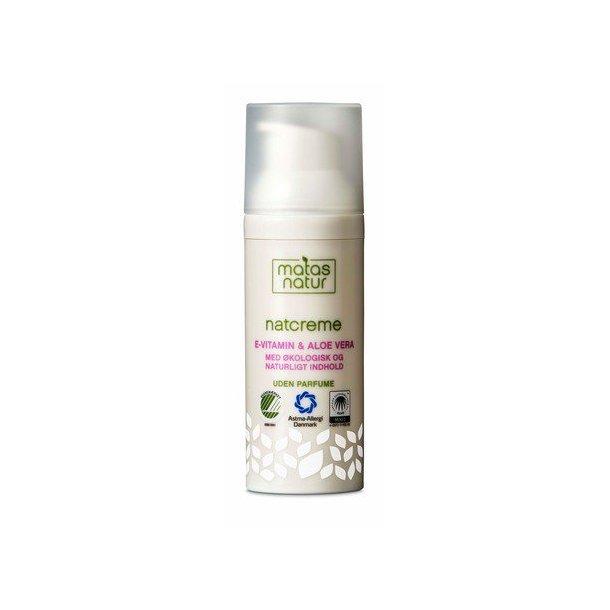Matas Natur Natcreme med Aloe Vera og E-vitamin, 50ml