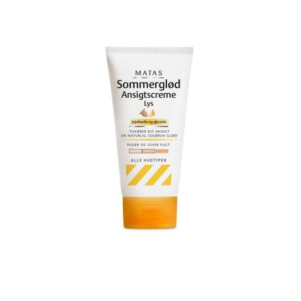 Matas Sommerglød Ansigtscreme med jojobaolie og Glycerin, lys hud. 80 ml