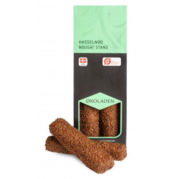 Økoladen Hasselnødnougat stang (tidl. nougatmåtte), 2 stænger.