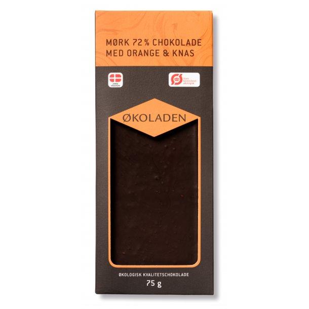 Økoladen Mørk Chokolade med orange, 75g
