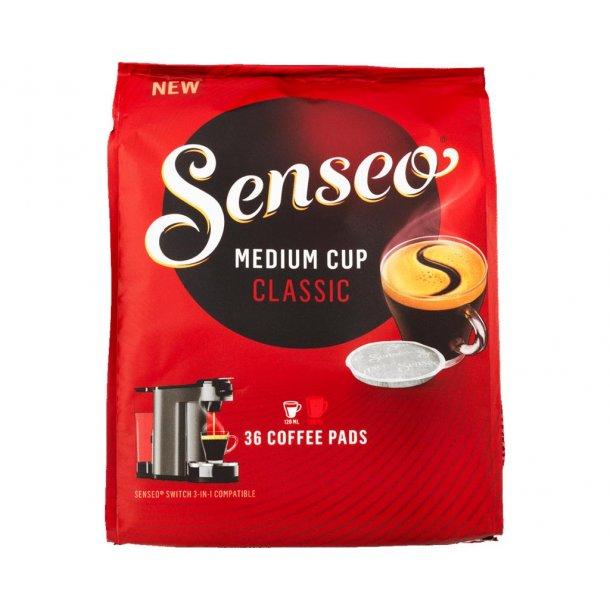 Senseo Classic kaffepuder, medium kop. 36 stk