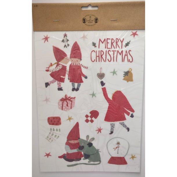 Juleklistermærker til vinduet, 2 ark