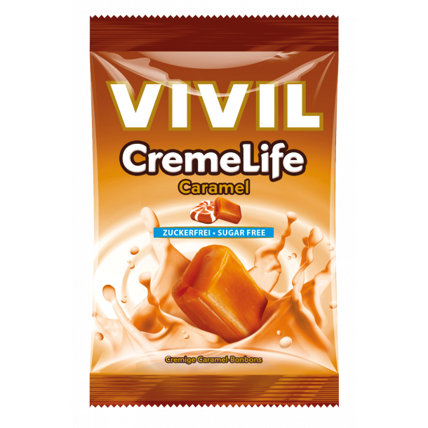 Vivil Cremelife Caramel, sukkerfri bolcher, 110g