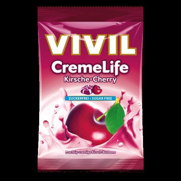 Vivil Cremelife Kirsebær, sukkerfri bolcher, 110g