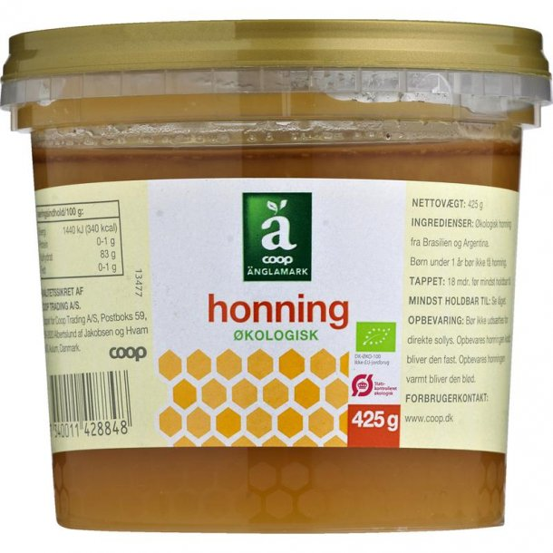 Honning Økologisk fra Änglamark, 425 gram
