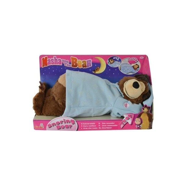 Masha og bjørnen, Sovende bjørn der kan snorke, og med selvlysende nattøj.