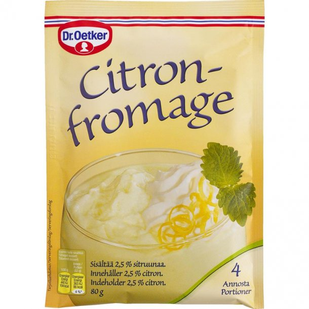 Citronfromage, Dr. Oetker. 80g