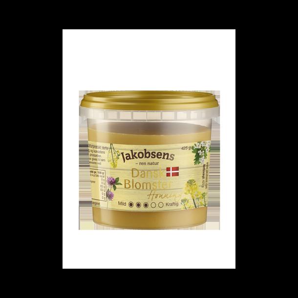 Dansk blomster honning fra Jacobsens, fast, 425 gram