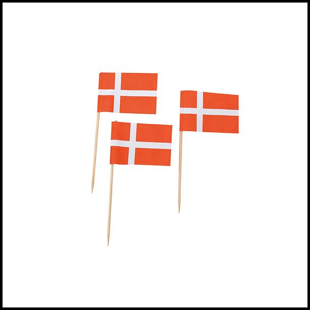 Flag på træpind 40 stk.