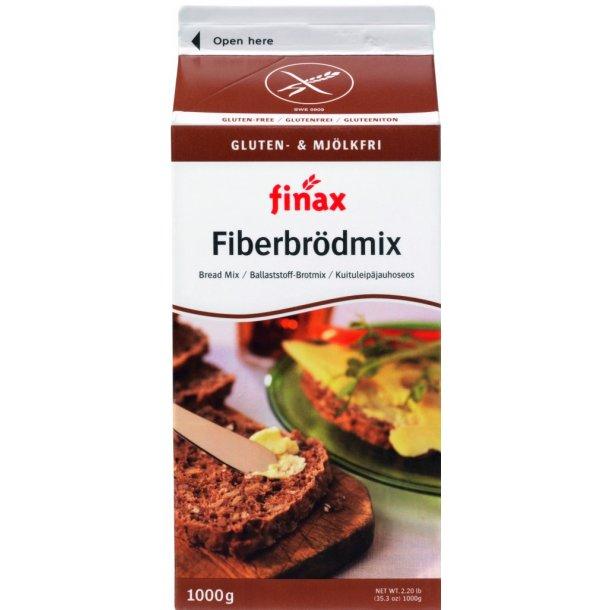 Finax Glutenfri Fiberbrødmix. 1000g