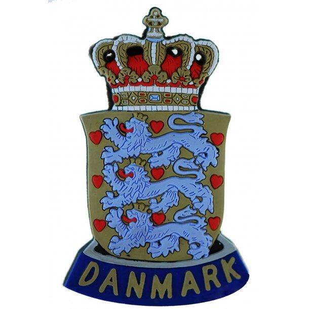 Gummimagnet DK Rigsvåben 4,5 x 7,5 cm