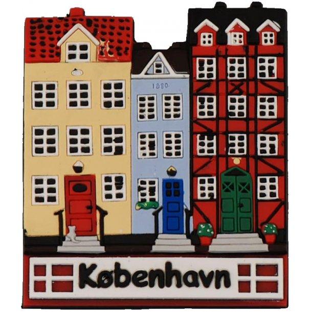 Gummimagnet Nyhavn 6,5 x 7,5 cm