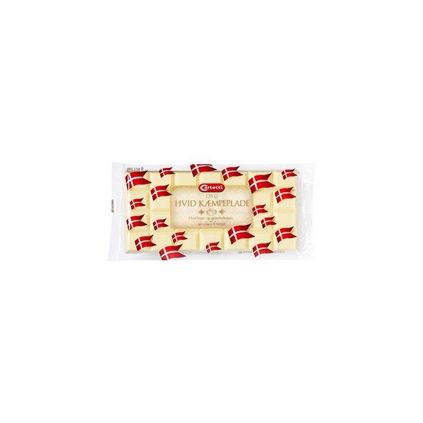 Hvid kæmpeplade chokolade, 170g