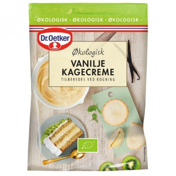 Dr. Oetker økologisk vanilje kagecreme. Mht: 03/20