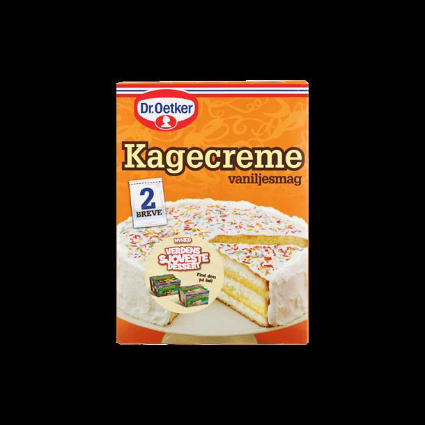 Kagecreme med vanillesmag fra Dr. Oetker, 2 poser