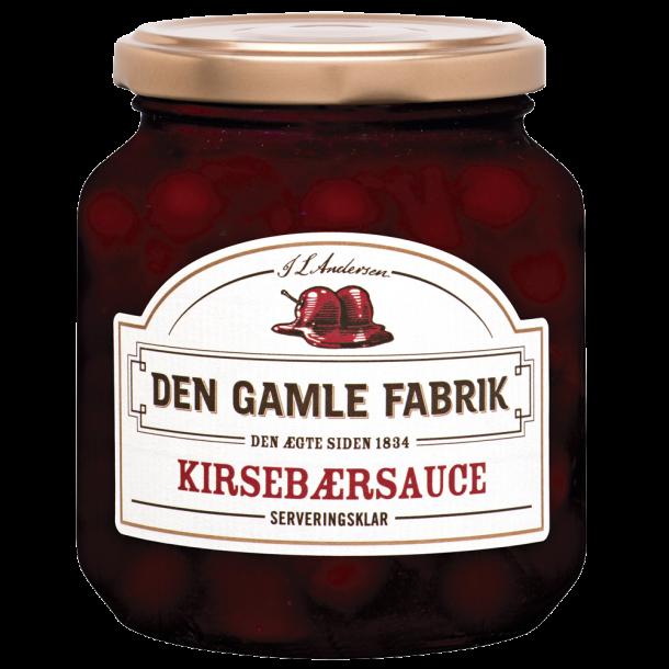 Kirsebærsauce fra Den Gamle Fabrik, stort glas. 575 gram