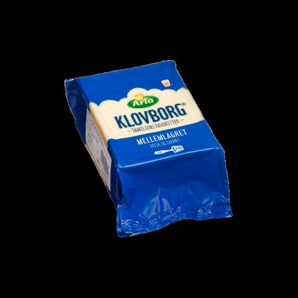 Klovborg mellemlagret ost, 750g