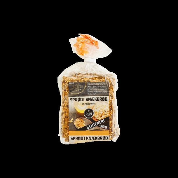 Sprødt Knækbrød fra Smag forskellen - Coop. Glutenfrit. 190g