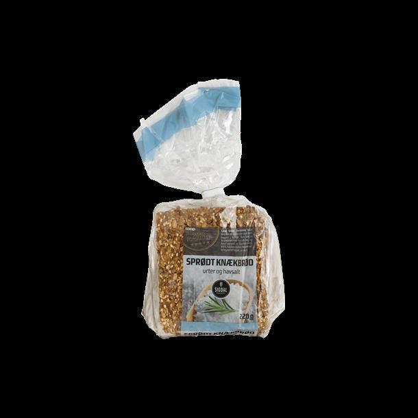 Sprødt Knækbrød med urter og havsalt fra Smag forskellen - Coop, 220g