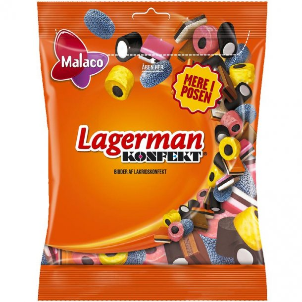 Malaco Lagerman Lakridskonfekt, 190 gram