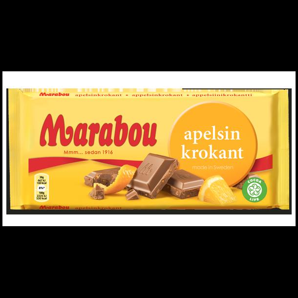 Marabou Appelsin Krokant, 200g.