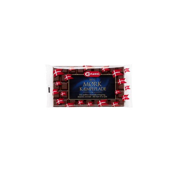 Carletti mørk kæmpeplade, 200g