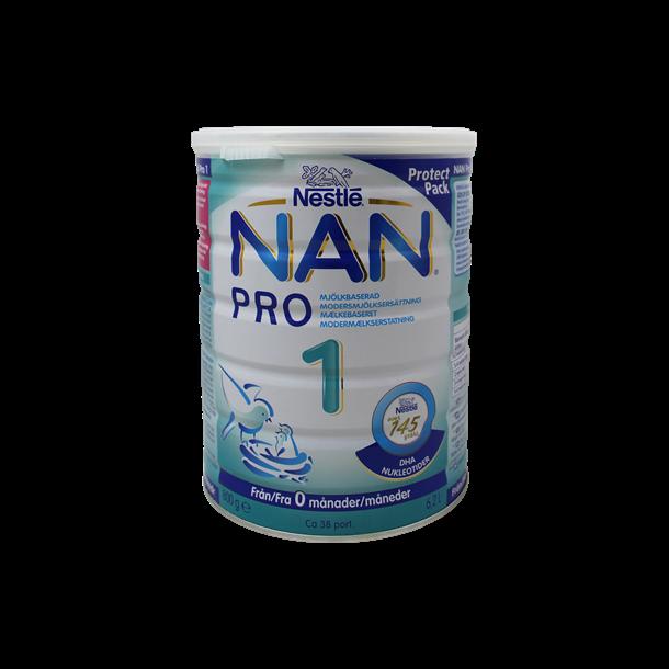 Nan Pro 1 modermælkserstatning. 800 gram