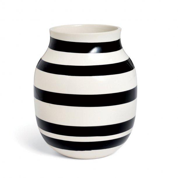 Kähler Omaggio Vase Hvid & Sort - 20 cm